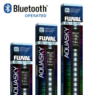 Fluval Aquasky 2.0 LED Lighting Controlled By Bluetooth App Aquarium Fish Tank