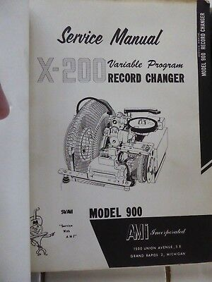 AMI  X-200 Record Changer & Credit and Selection System manuals for model 900