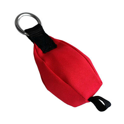 10.6oz Tree Climbing Throw Weight Bag with Stainless Steel Ring & Tail Loop