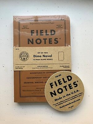 SEALED Field Notes Dime Novel Edition w/ Rare Field Notes Sticker FREE SHIPPING