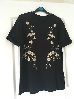 topshop maternity top Tshirt tee t-shirt size 8 embroidered pregnancy