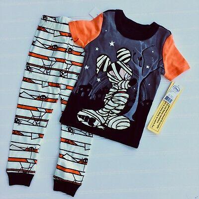 Toddler DISNEY MICKEY MOUSE HALLOWEEN Pajamas 2 2T Not So Scary Party Pjs NWT
