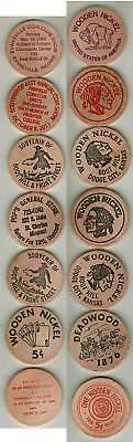 7 Different Wooden Nickels Check Em Out!