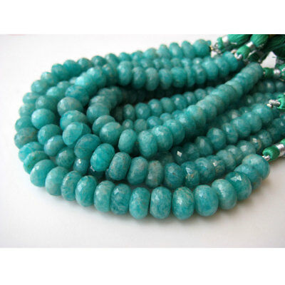 Amazonite Faceted Rondelle Gemstone 9mm Beads 4 Inch Half Strand 15 Piece Approx