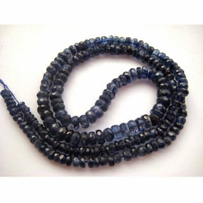 Blue Kyanite Faceted Rondelle Beads 3mm To 5mm Each 9 Inch Half Strand 46 Piece