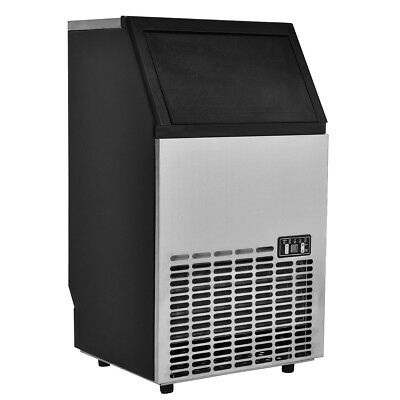 Built-In Stainless Steel Commercial Ice Maker Portable Ice Machine Restaurant US