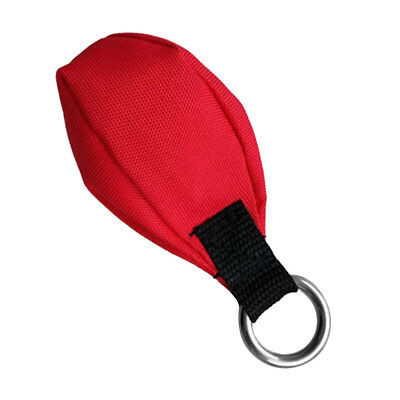 14oz Tree Climbing Throw Weight Red Bag with Attaching Stainless Steel Ring