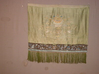 WONDERFUL 19th CENTURY SILK CHINESE ANTIQUE EMBROIDED PANEL   ***HG***