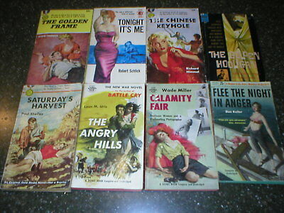 Lot of 14 vintage pbs noir crime 1950 era hardboiled mystery