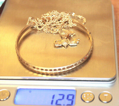 14K Yellow Gold 12.9 Grams Mixed Lot Jewerly Scrap Or Wear