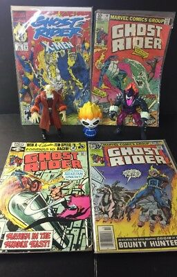 Lot Of 4 Ghost Rider Marvel Comics+Ghost Rider, Blackout & Vengeance Figures