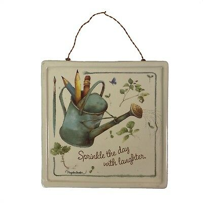"""HALLMARK MARJOLEIN BASTIN 6""""X6"""" Sprinkle The Day With Laughter Wall Hanging Tile"""