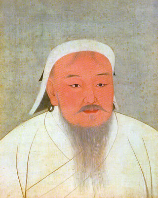 GENGHIS KHAN of the Mongol Empire Glossy 8x10 Photo Portrait Poster Poster