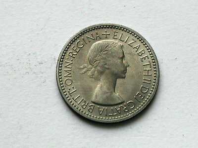 UK (Great Britain) 1953 SHILLING English Crest Coin UNC Lustre & Toning