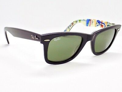 Ray Ban New York Subway Rare Prints Wayfarer 50mm RB2140 1028 & Case