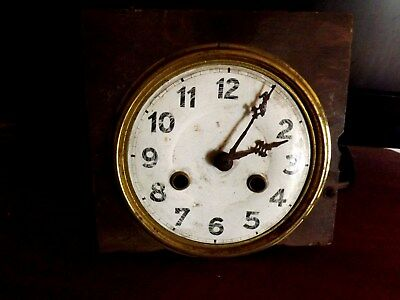 Antique Vintage Brass Clock Movement - Spares / Repairs