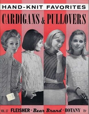 1967 Hand Knit Favorites Cardigans & Pullovers Pattern Book Vol 37