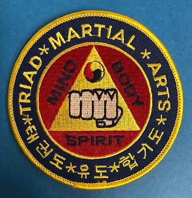 Vintage 70/'s Puerto Rico Tae Kwon Do Association Martial Arts MMA Gi Patch Crest