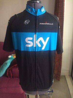 Adidas Team Sky Cycling Top Zipped Size XL Great Condition