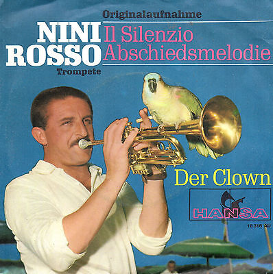 """NINI ROSSO il silenzio Abschiedsmelodie Der Clown - hansa 7"""" germany blue cover"""