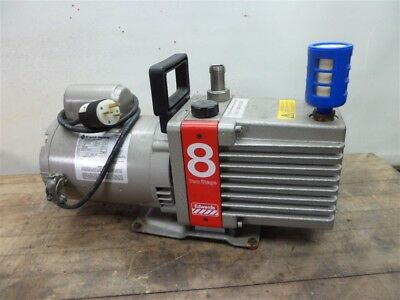 Edwards E2M8 Two Stage Rotary Vane Vacuum Pump Tested 30 Day Warranty