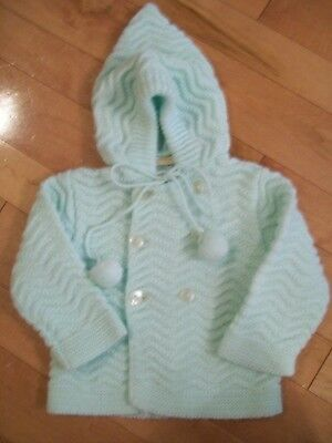 RENZO IMPORTS * Baby Boy or Girl PALE GREEN SWEATER VINTAGE REBORN DOLL