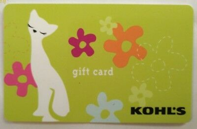 Kohl's Complacent Cat Gift Card, Vintage Collectible                        (FF)