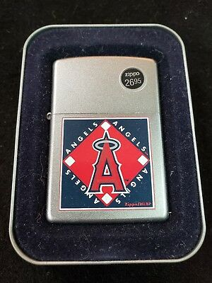 Zippo Los Angeles Angels of Aneheim Lighter NEW in box stainless