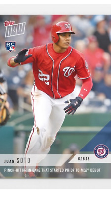 2018 Topps Now Rookie Card Washington Nationals Juan Soto #337 Pit Hit Home Run