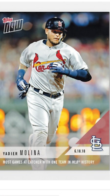 2018 Topps Now Card Cardinals Yadier Molina #339 Most Games At Catcher W/ 1 Team