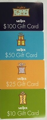 Four Card Set, Meijer Gift Cards, Vintage Collectibles                      (FF)