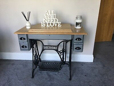 Singer sewing machine console/ occasional  table Rustic!!!!!!!
