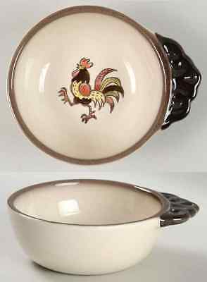 Metlox Poppytrail RED ROOSTER Soup Server 357529