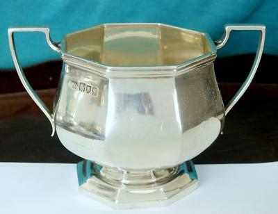 122g HARRODS Fine Solid Two Handled Octagonal Lobed Bowl - Ldon 1913