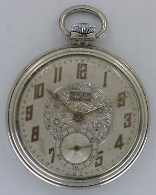 Excellent Triple Marked Gruen Semi-Thin Size 12 Open-Face Pocket Watch - No Rsv