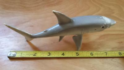 Schleich Retired Great White Shark Animal Germany 2004 Ocean Toy Retired Rare 7""