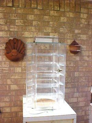 Revolving Store Counter Display Case With Key