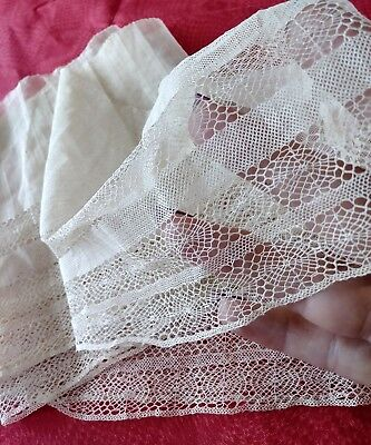 """6"""" Spider Web French net tulle Antique trim lace 1 yard+22"""" cotton"""