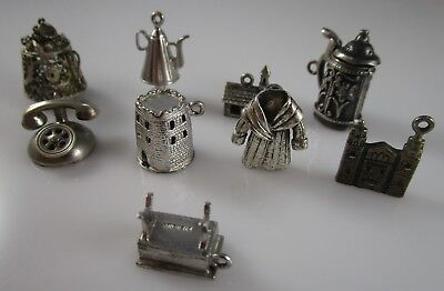 Mechanical Charms Vintage Sterling Silver | Lot of 9 | 39.5 g