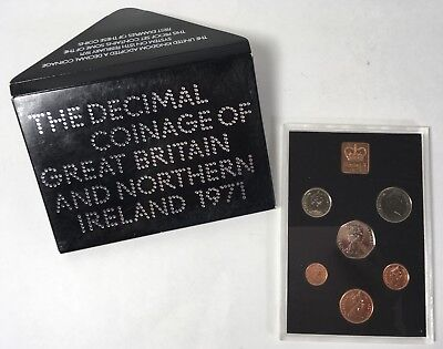 1971 The Decimal Coinage of Great Britain & Northern Ireland Mint Proof Set