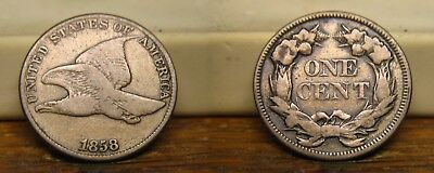 1858 Flying Eagle Cent Large Letters Us Coin