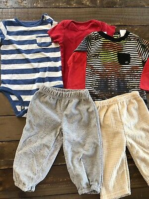 Baby Boy 9 Month Mix Lot Of Everyday Lounge Clothes Pants One Pieces