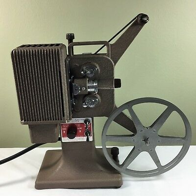 Vintage Kodascope Eight Model 71A 8mm Film Projector With Case - Working