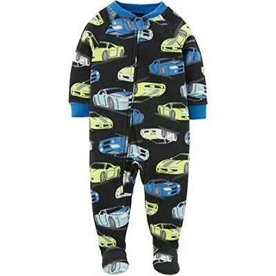 f6feac6cb Child Of Mine Carter's Toddler Boy's Cars Navy Fleece Footed Pajama Sleeper