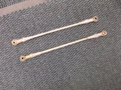 go kart historic/classic 100cc pair of track rods and ends at 310mm