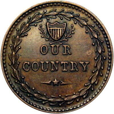 Our Country Cannons Flags Drum Patriotic Civil War Token