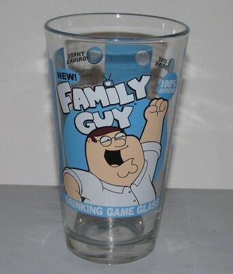 FAMILY GUY Drinking Game Pint Beer Glass 100% Official Drink & Chug