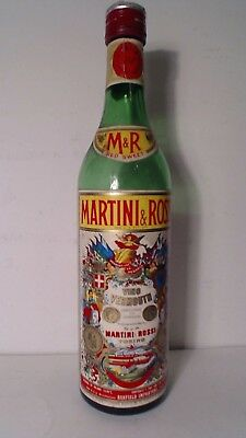 "Rare Vintage Martini & Rossi Vino Vermouth empty Bottle 12"" tall"