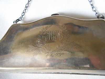 Gorgeous Vintage Silver Epns Dance/finger Purse, Ejh Made England