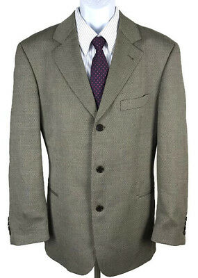Hugo Boss Einstein Men's Sport Coat Birdseye Pattern Three Button Wool Blend 42R